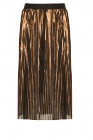 By Malene Birger | Metallic plissérok Iauno | bruin  | Afbeelding 1