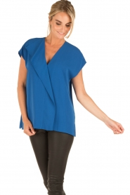By Malene Birger |  Blouse Tobiso | blue  | Picture 2