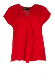 By Malene Birger | Blouse Tobiso | rood  | Afbeelding 1