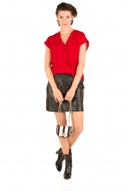 By Malene Birger | Blouse Tobiso | rood  | Afbeelding 3