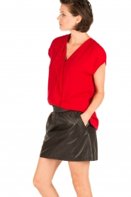 By Malene Birger | Blouse Tobiso | rood  | Afbeelding 4