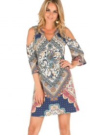 Hale Bob | Open shoulder jurk Laila | blauw  | Afbeelding 2