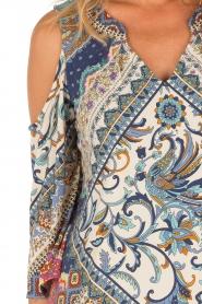 Hale Bob | Open shoulder jurk Laila | blauw  | Afbeelding 6
