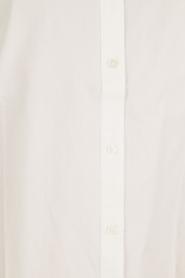 Hoss Intropia | Blouse met ruches kraag Camal | wit  | Afbeelding 6
