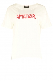 Amatør | T-shirt Roro Logo | wit  | Afbeelding 1