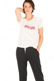 Amatør | T-shirt Roro Logo | wit  | Afbeelding 2