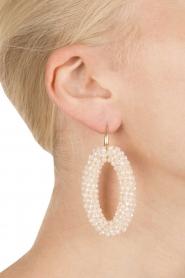 Miccy's | Oorbellen Ivory ovals | wit  | Afbeelding 4