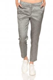 Amatør | Metallic pantalon Mack | zilver  | Afbeelding 2