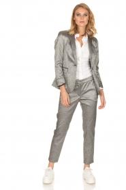 Amatør | Metallic pantalon Mack | zilver  | Afbeelding 3