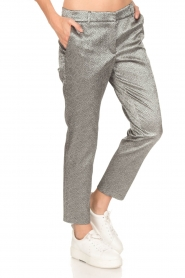 Amatør | Metallic pantalon Mack | zilver  | Afbeelding 4