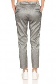 Amatør | Metallic pantalon Mack | zilver  | Afbeelding 5