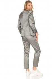 Amatør | Metallic pantalon Mack | zilver  | Afbeelding 6