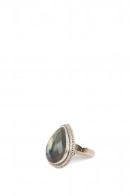 Close to Zen | 925 sterling zilveren ring True Love Labradorite | groen  | Afbeelding 2
