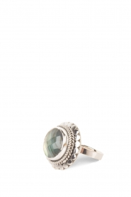 Close to Zen | 925 sterling zilveren ring Blossom Labradorite | groen | Afbeelding 1