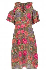 Set | Zijden jurk Flower | groen  | Afbeelding 1