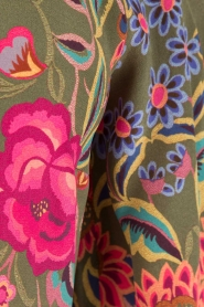 Set | Zijden jurk Flower | groen  | Afbeelding 6