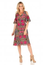 Set | Zijden jurk Flower | groen  | Afbeelding 3