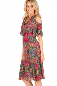 Set | Zijden jurk Flower | groen  | Afbeelding 4