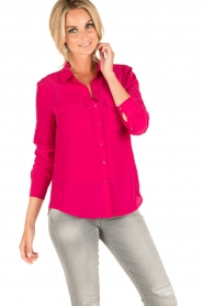 Set | Zijden blouse Corine | roze  | Afbeelding 2