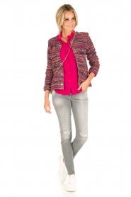 Set | Zijden blouse Corine | roze  | Afbeelding 3