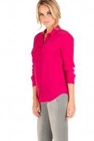 Set | Zijden blouse Corine | roze  | Afbeelding 4