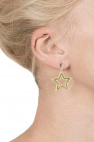Close to Zen | 22k vergulden oorbellen Star and Moon | goud  | Afbeelding 3