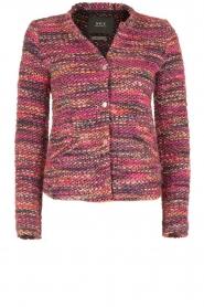Set | Bouclé vest Ellen | roze  | Afbeelding 1