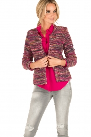 Set | Bouclé vest Ellen | roze  | Afbeelding 2
