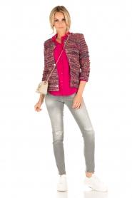 Set | Bouclé vest Ellen | roze  | Afbeelding 3