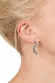 Close to Zen |  925 sterling earrings Star and Moon | silver  | Picture 4