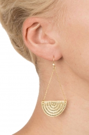 Close to Zen |  22ct gold plated earrings Sunset Lover | gold  | Picture 3