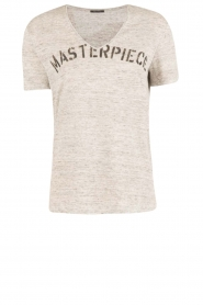 IKKS | Linnen T-shirt V-hals Masterpiece | grijs  | Afbeelding 1