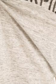 IKKS | Linnen T-shirt V-hals Masterpiece | grijs  | Afbeelding 6