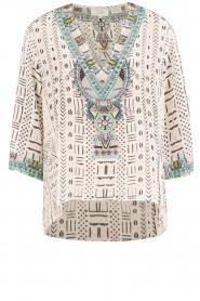 Camilla | Zijden blouse Maasai Mosh | wit  | Afbeelding 1