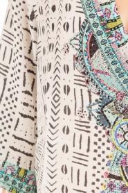 Camilla | Zijden blouse Maasai Mosh | wit  | Afbeelding 6
