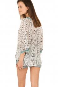 Camilla | Zijden blouse Maasai Mosh | wit  | Afbeelding 5
