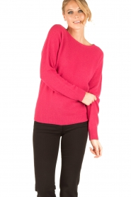 Set |  Fine knitted cashmere sweater Mona | pink  | Picture 2