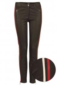 Arma | Lamsleren broek met zijstreep Lacay | zwart  | Afbeelding 1