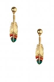 Gas Bijoux | Vergulden oorbellen Apenna | goud  | Afbeelding 2