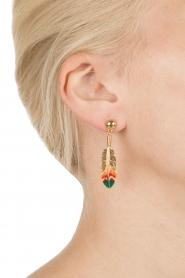Gas Bijoux | Vergulden oorbellen Apenna | goud  | Afbeelding 3