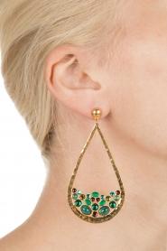 Gas Bijoux | Vergulden oorbellen Ajung | goud  | Afbeelding 4