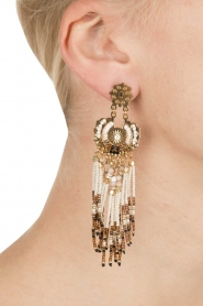 Gas Bijoux | Vergulden oorbellen Aapache | goud  | Afbeelding 4