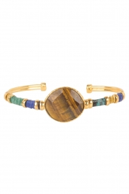 Gas Bijoux | Vergulden armband Serti Bangle | goud  | Afbeelding 1