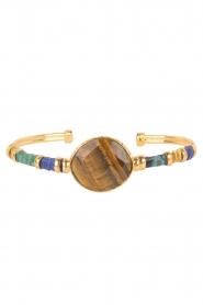 Gas Bijoux | Vergulden armband Serti Bangle | goud  | Afbeelding 2