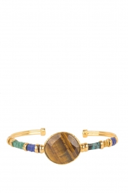 Gas Bijoux |  Plated bracelet Serti Bangle | gold  | Picture 2