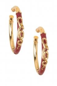 Gas Bijoux | Vergulde oorbellen Acreole | goud  | Afbeelding 1