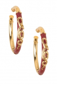 Gas Bijoux | Vergulde oorbellen Acreole | goud  | Afbeelding 2