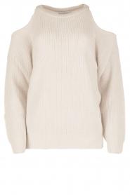 IRO | Open shoulder trui Lineisy | grijs  | Afbeelding 1