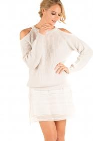 IRO | Open shoulder trui Lineisy | grijs  | Afbeelding 2