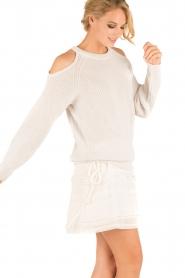 IRO | Open shoulder trui Lineisy | grijs  | Afbeelding 4